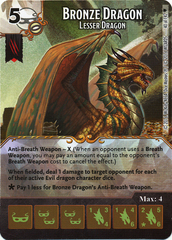 Bronze Dragon - Lesser Dragon (Die & Card Combo)