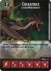 Cockatrice - Lesser Monstrosity (Die & Card Combo)