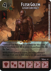 Flesh Golem - Lesser Construct (Die & Card Combo)
