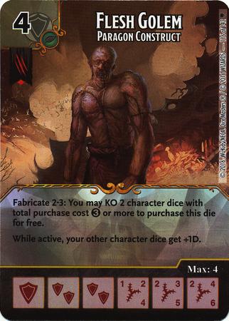 Flesh Golem - Paragon Construct (Die & Card Combo)
