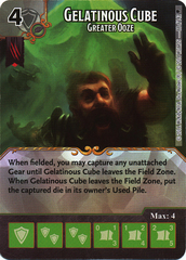Gelatinous Cube - Greater Ooze (Die & Card Combo)