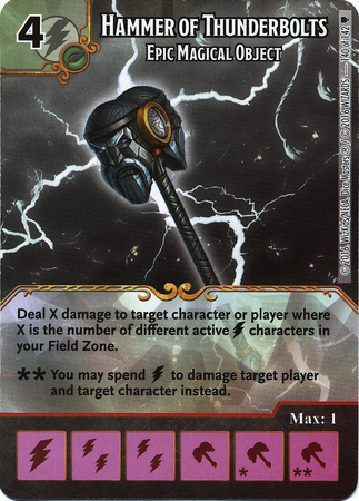 Hammer of Thunderbolts - Epic Magical Object (Die & Card