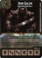 Iron Golem - Greater Construct (Die & Card Combo)