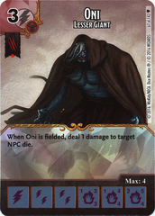 Oni - Lesser Giant (Die & Card Combo)