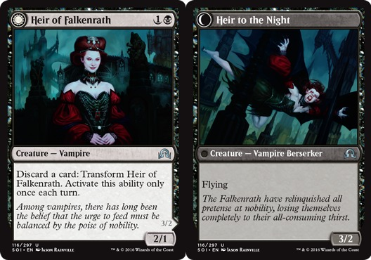Heir of Falkenrath // Heir to the Night - Foil