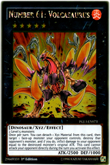 Number 61: Volcasaurus - PGL3-EN073 - Gold Rare - 1st Edition on Channel Fireball