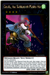 Castel, the Skyblaster Musketeer - PGL3-EN076 - Gold Rare - 1st Edition