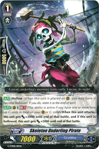 Skeleton Underling Pirate - G-TD08/011EN