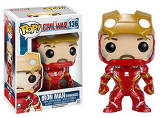 Funko Pop - Captain America: Civil War - #136 - Iron Man (Unmasked/Hot Topic Exclusive)