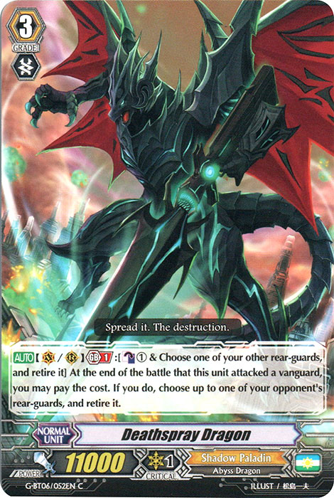 Deathspray Dragon - G-BT06/052 - C