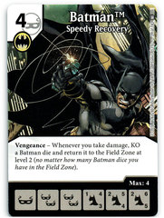 Batman - Speedy Recovery (Die & Card Combo)