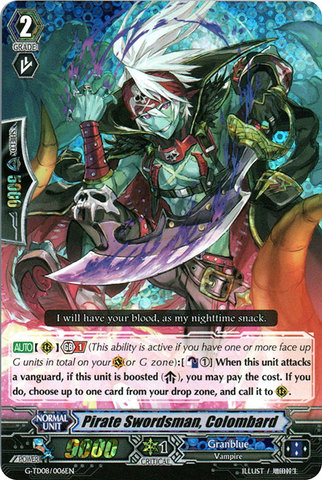 Pirate Swordsman, Colombard - G-TD08/006EN - RRR