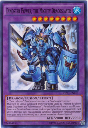 Dinoster Power, the Mighty Dracoslayer - OP01-EN010 - Super Rare - Unlimited Edition