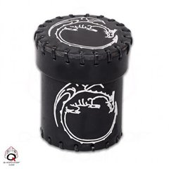 Dragon Leather Dice Cup - Black