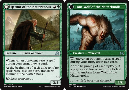 Hermit of the Natterknolls // Lone Wolf of the Natterknolls