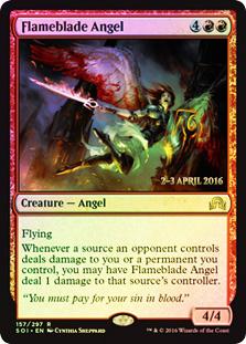 Flameblade Angel - Foil - Prerelease Promo
