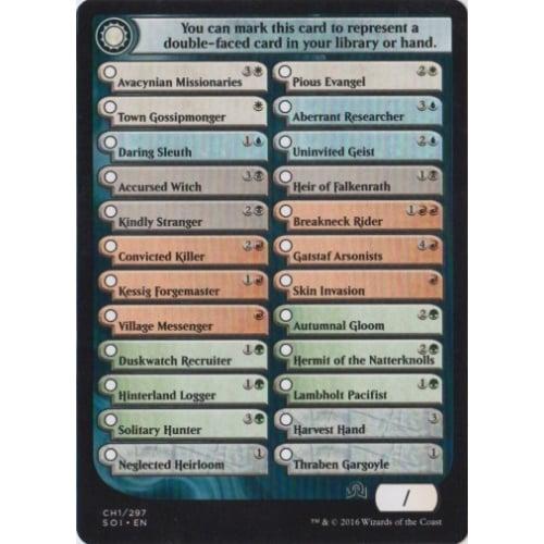 Shadows Over Innistrad Checklist Card (CH1)