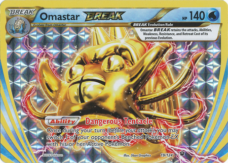 Omastar-Break - 19/124 - Rare BREAK