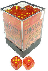 Ghostly Glow Orange and Yellow 12ct 16mm D6 Dice Block - CHX27723