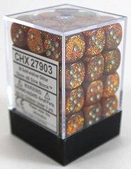 Glitter Gold and Silver 36ct 12mm D6 Dice Block - CHX27903