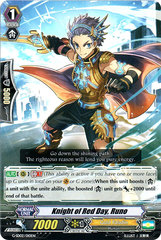 Knight of Red Day, Runo - G-SD02/010EN on Channel Fireball