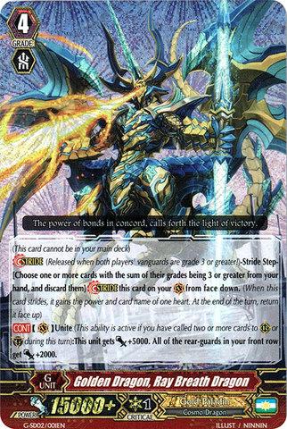 Golden Dragon, Ray Breath Dragon - G-SD02/001EN - RRR