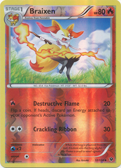 Braixen - 12/124 - Uncommon - Reverse Holo on Channel Fireball
