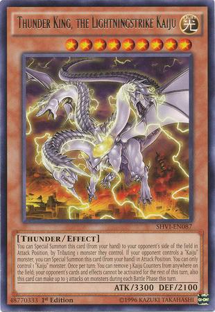 Thunder King, the Lightningstrike Kaiju - SHVI-EN087 - Rare - 1st Edition