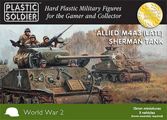 Allied M4A3 (Late) Sherman Tank (5 vehicles)