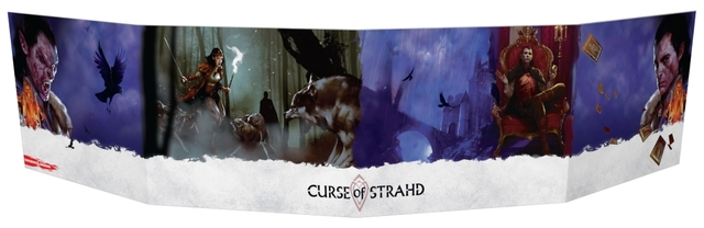 5th Edition Dungeon Masters DM Screen - Curse of Strahd