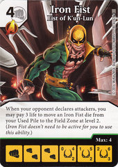 Iron Fist - Fist of K'un-Lun (Die & Card Combo)