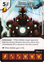 Iron Man - Secretary of Defense (Die & Card Combo)