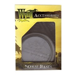 Malifaux: Accessories - Clear Translucent Bases 50mm