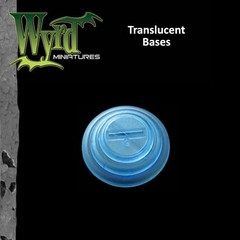 Malifaux: Accessories - Blue Translucent Bases 50mm (3)