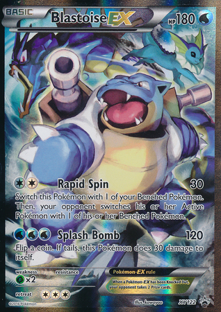 Blastoise-EX - XY122 - Red & Blue Collection Blastoise-EX Box