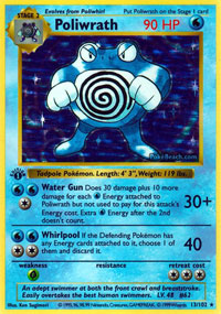 Poliwrath - 13/102 - Holo Rare - 1st Edition