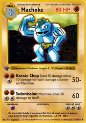Machoke - 34/102 - Uncommon - 1st Edition