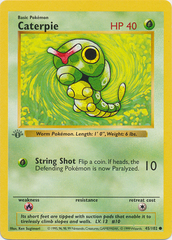 Caterpie - 45/102 - Common - 1st Edition
