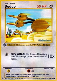 Doduo - 48/102 - Common - 1st Edition