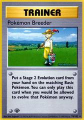 Pokemon Breeder - 76/102 - Base Set Rare - 1st Edition
