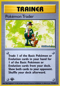 Pokemon Trader - 77/102 - Rare - 1st Edition