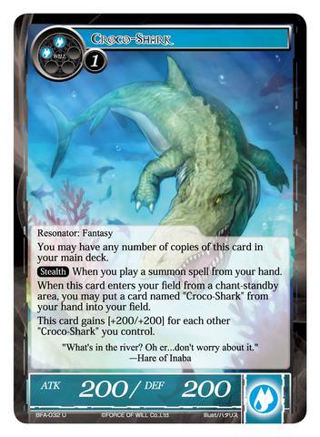 Croco-Shark - BFA-032 - U - Foil