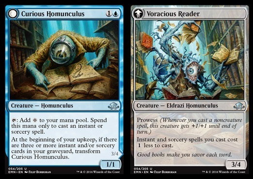 Curious Homunculus // Voracious Reader - Foil