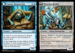 Curious Homunculus // Voracious Reader - Foil on Channel Fireball