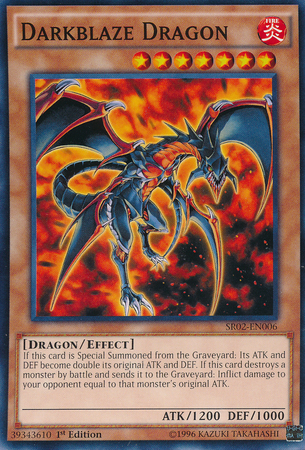Darkblaze Dragon - SR02-EN006 - Common - 1st Edition