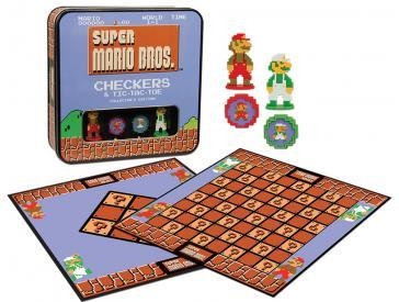 Super Mario Bros Checkers & Tic-Tac-Toe