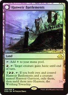 Hanweir Battlements // Hanweir, the Writhing Township - Eldritch Moon Prerelease Promo