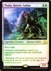 Thalia, Heretic Cathar (Eldritch Moon Prerelease Foil 16-17 July 2016)