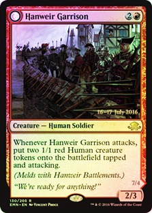 Hanweir Garrison // Hanweir, the Writhing Township - Eldritch Moon Prerelease Promo