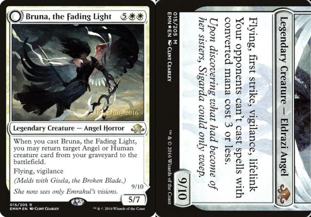 Bruna, the Fading Light // Brisela, Voice of Nightmares - Foil - Prerelease Promo